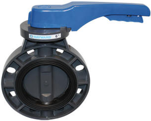 Hayward PVC Pure-Blue Butterfly Valves