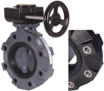 Hayward BYV Series Gear Operated Lugged Butterfly Valves