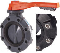 PVC Disc Gear Operated VITON and FPM Seals 12 Size Lugged Hayward BYV11120A0VGI00 Series BYV Butterfly Valve PVC Body