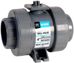GFPP actuator ready true union ball valve
