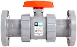 Flanged CPVC ball valve