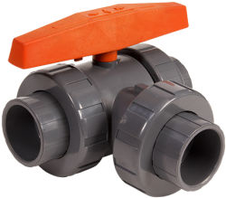 HAYWARD THREE WAY BALL VALVE SIDE INLET