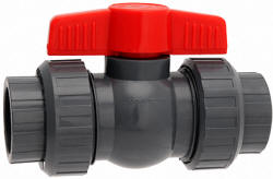 Hayward QTA series gray PVC compact true union ball valve