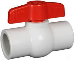 Hayward QVC series compact white PVC ball valve