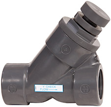 Hayward threaded PVC SLC spring loaded Y check valve