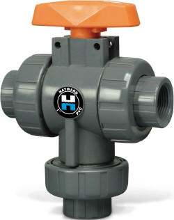HAYWARD THREE WAY BALL VALVE BOTTOM INLET