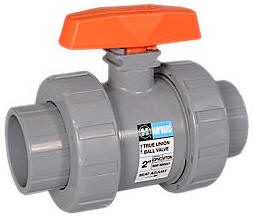 PVC True Union Ball Valves with FPM O-Rings